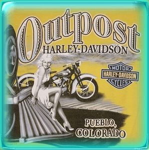 Harley Davidson Mens longsleeve yellow graphic tee